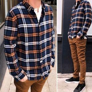 ☝️Mens Flannel Button Down Shirt